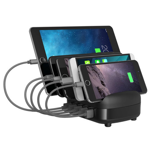 Orico (40W) 5-Port USB Charging Station & Stand for Phone / Tablet - Black
